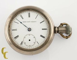 Silverode Antique Elgin Open Face Pocket Watch Gr 6 18S 7-Jewel 1884 - $223.51