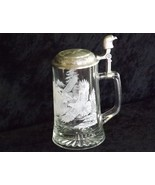 Meger Glass Etched Wrap Around Bald Eagle Covered Stein - $29.99