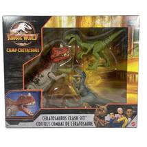 Jurassic World Camp Cretaceous Ceratosaurus Clash Set 3 pk Netflix NIB - $35.94