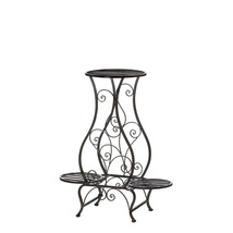 Plant Stands With Shelves, Black Iron Multiple Plant Stand - Hourglass - $57.00