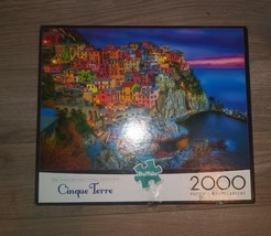 Buffalo Games - CINQUE TERRE, ITALY - 2000 Piece Jigsaw Puzzle Counted Complete - $19.79