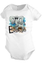 ELEPHANT animal Infant Baby bodysuit one-piece Snapsuit Girl Boy Funny K13 - $12.99