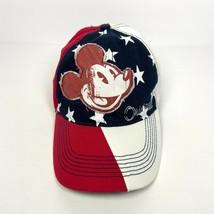 Disney Parks Mickey Mouse Amercian Flag Baseball Cap - Strapback Adult M... - $18.95