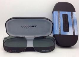 COCOONS Grey Polarized Sunglasses/Eyeglasses Over Rx Clip-on SQR 2-53 Gunmetal