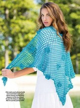Z604 Crochet PATTERN ONLY Irish Dreams Shawl Wrap Pattern Filet Style Mesh - $7.50
