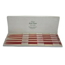 12 Vintage Colonial Flower Taper Candles Red and White  Colonial Candle Co - $11.95