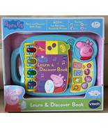 Kids Teaching Toy Read Discover With Peppa Pig Vtech Learn & Discover Book - $29.99