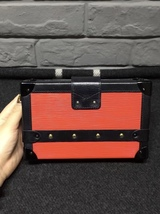 100% AUTH LOUISE VUITTON PETITE MALLE EPI RED BLACK BAG LEATHER image 2