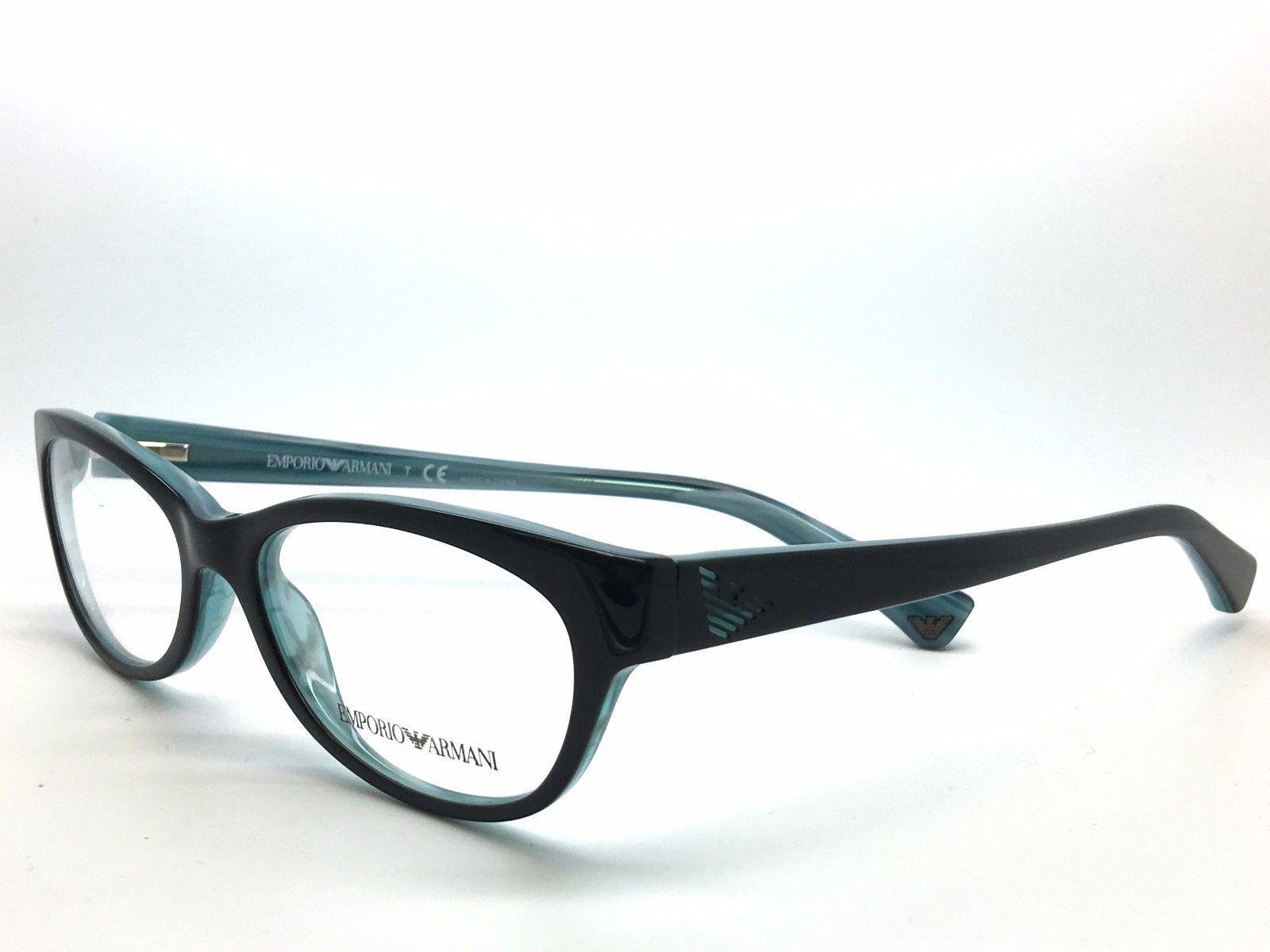 e0b31abe68a Emporio Armani EA 3008 Eyeglasses 51-16-135 Black Azure Variegated 5052  EA3008 -  79.49