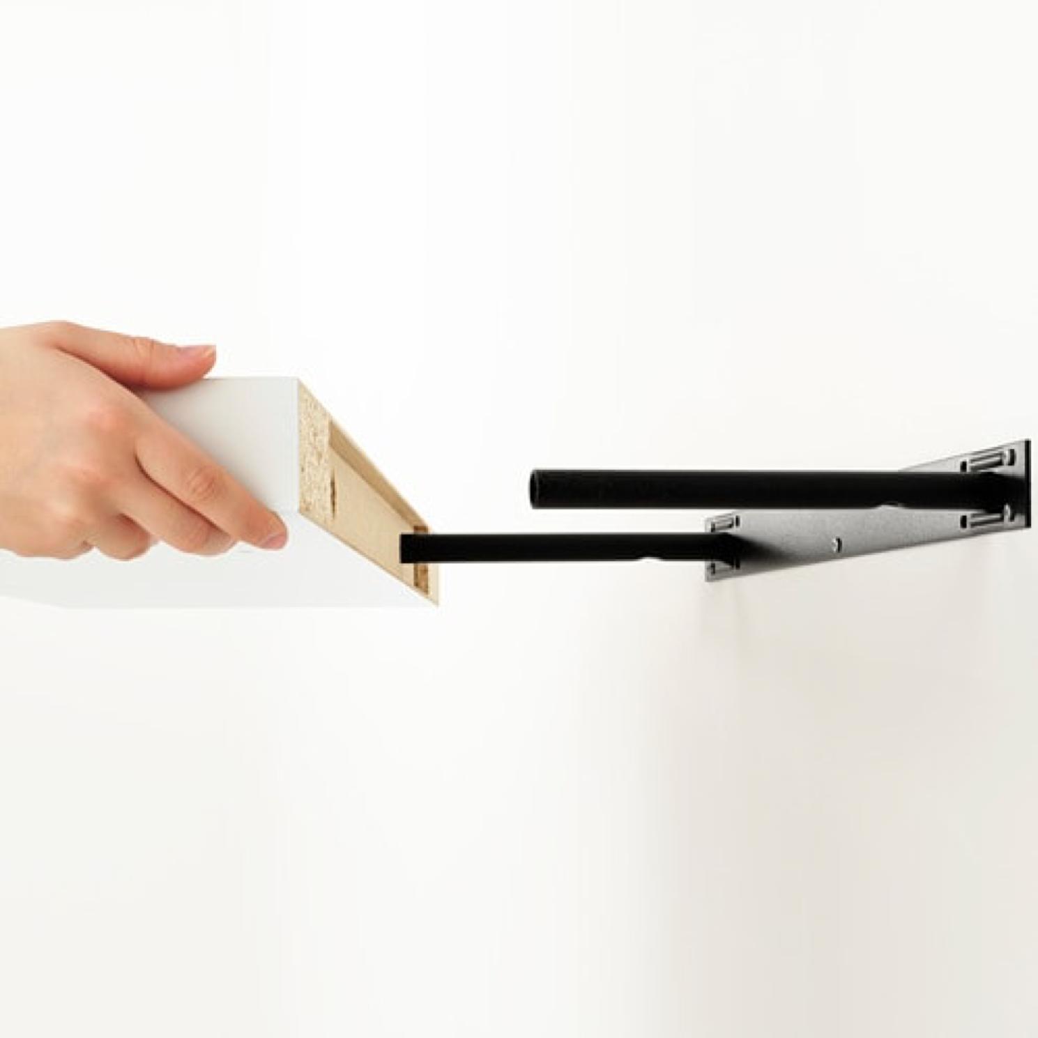 Ikea lack wall shelf floating concealed mounts white 43 for Ikea lack mensola