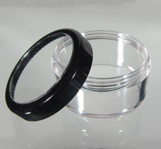 50 Beauty Containers Cosmetic Makeup Jars Black Trim Acrylic Lids 30 Gra... - $68.95