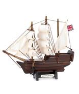 MINI MAYFLOWER Ship Model Historical Nautical Decor - $15.98