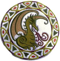 "Custom Mythical Celtic Dragon Circle Embroidery Iron On/Sew patch [6.95""... - €11,07 EUR"
