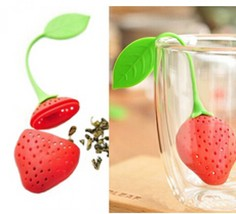 Silicone Strawberry Tea Infuser Strainer Filter Spice Herbal Diffuser Lo... - €6,79 EUR
