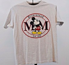Disneyland Mickey Mouse T-SHIRT L Cotton Disney Genuine Gray - $17.99