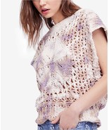 Free People Diamond In The Rough Knit Sweater Multicolor Mult Sz - $64.99