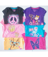 Hanes Girls Graphic T-Shirts Various Patterns Colors and Sizes Peace Sig... - $6.49