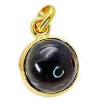 fine Smoky Quartz Gold Plated Brown Pendant Natural indian US gift - $9.89