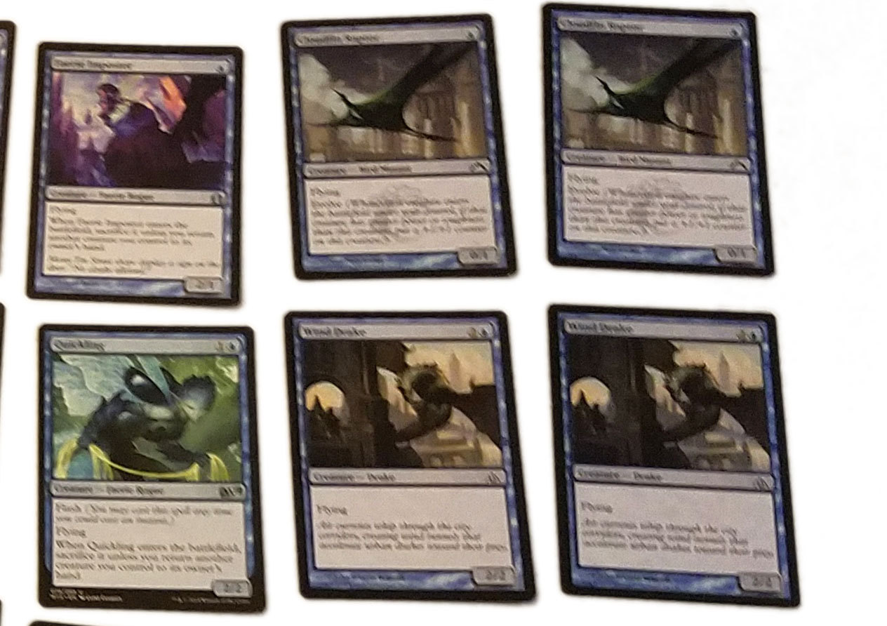 Magic the Gathering MTG Blue Flying (60) Card Custom Starter Deck * 02