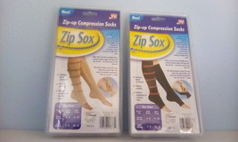 zip up compression socks. as seen on TV size women 5 - 8 men's 7 - 9 - $7.91