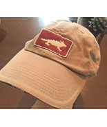 HORNY TOAD HORNEY TOEAD Baseball Hat Beige Woody Car Embroidered Logo Ad... - $19.35