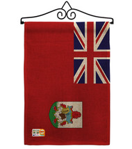 Bermuda Burlap - Impressions Decorative Metal Wall Hanger Garden Flag Se... - $33.97