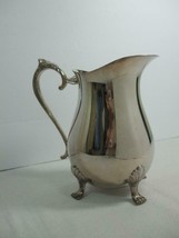 1978 Leonard Silver Plate Pitcher Ice Lip Guard Ornate Handle and Feet 2... - $29.65