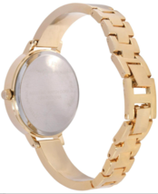 I.N.C. Women's Gold-Tone Bangle Bracelet Sunray Crystal Accents Dial 36mm Watch image 3