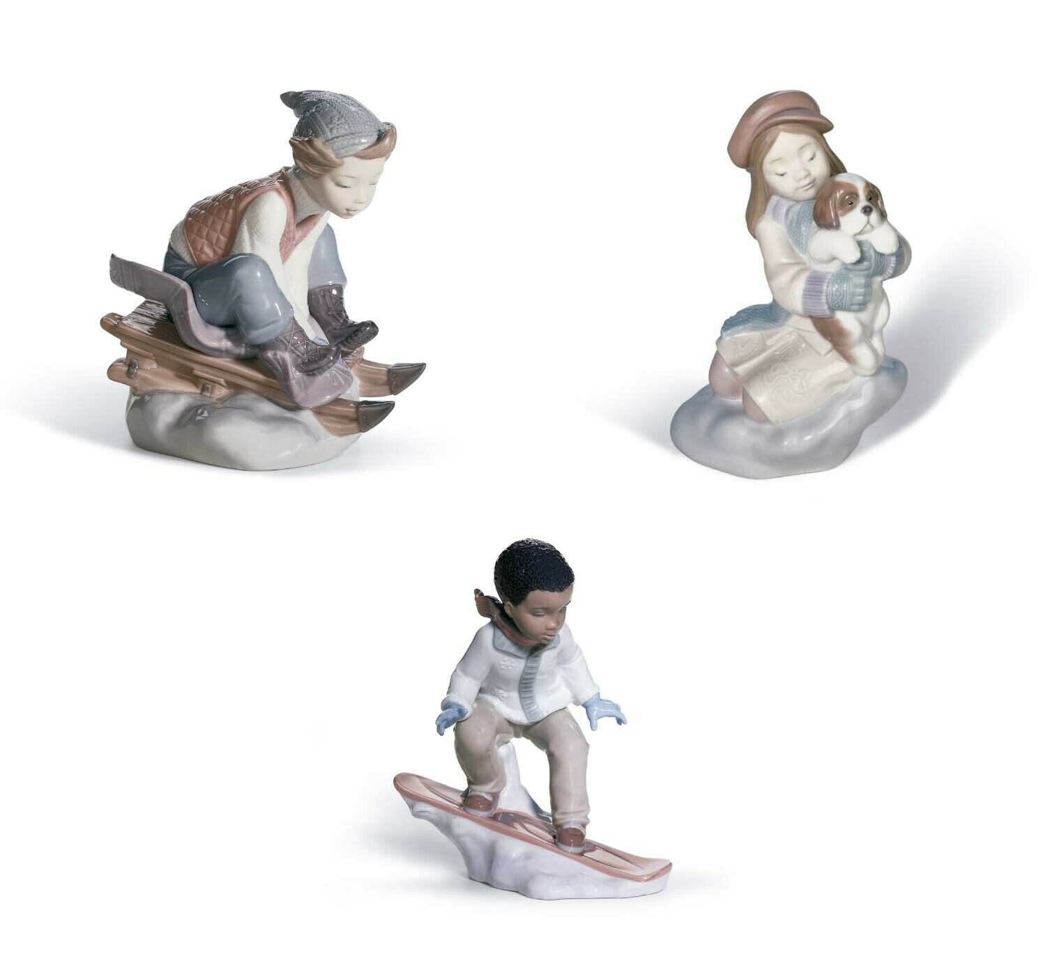 Primary image for Lladro Lot 8265 I'll Keep You Warm & 8264 Look Out Below & 8263 This Is Fun New