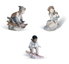 Lladro Lot 8265 I'll Keep You Warm & 8264 Look Out Below & 8263 This Is ... - $425.70