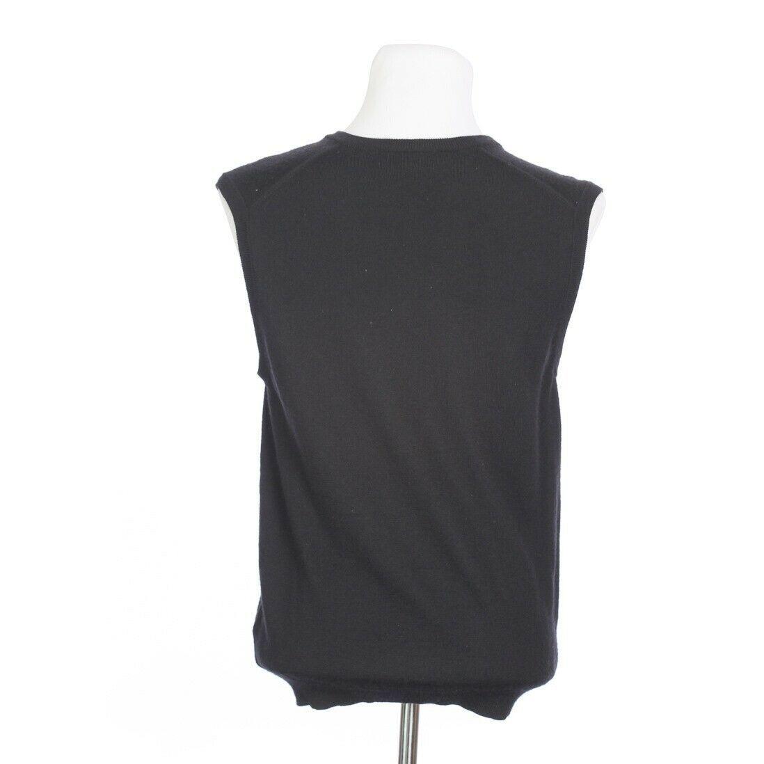 Brooks Brothers Extra Fine Merino Wool Solid Black Sweater Vest Mens Medium image 6
