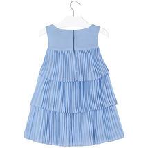 Mayoral Little Girls 2T-9 Light-Blue Pleated Triple Tier Social Dress image 2