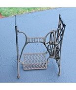 Singer Treadle Sewing Machine Base Table Legs Iron Working Complete - $195.02