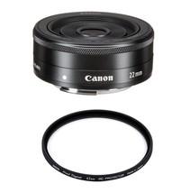 Canon EF-M 22mm F2 Stm Black + Hoya 43mm Pro 1D Protector - $281.56