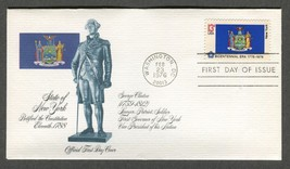 Feb 23 1976 State Flags: New York #1643 FDC Fleetwood - $5.49
