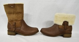 UGG Chyler Demi Leather & Sheepskin Cuff Ankle/Short Boots US Women's 7/ UK 6 - $149.00