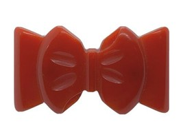 Genuine Vintage Cherry Red Bakelite Bow Brooch Pin - $96.70