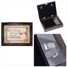 Cottage Garden Many Women Noble Things Burlwood Jewelry Music Box Plays ... - $57.72