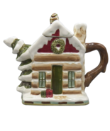 Winter Lodge by Jay Teapot Christmas Holiday Whimsical Tea Pot Cozy Cabi... - $32.54