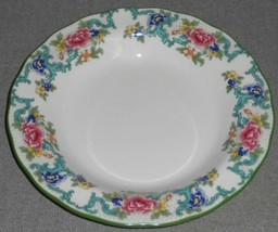 1981 Royal Doulton FLORADORA GREEN PATTERN Rimmed Soup Bowl - $39.59