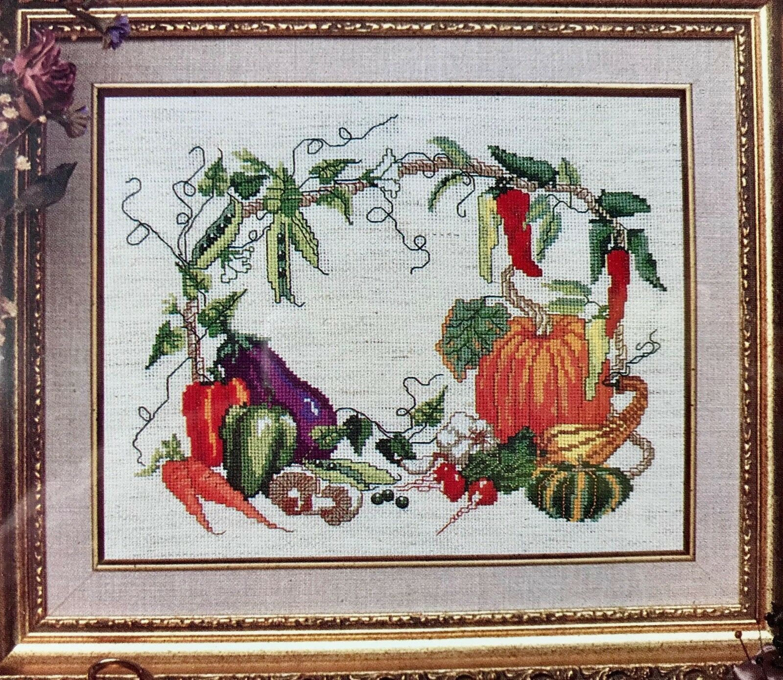 Harvest Time Cross Stitch Kit 5239 Heirloom Treasure Designs for the Needle 8x10