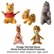 Vintage Walt Disney Winnie the Pooh Eeyore Tigger Stuffed Saw Dust Fille... - $143.55