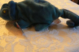 "Vintage Ty Beanie Babies Rainbow "" The Chameleon "" Hang Tag/Tush Tag 1997 Errors image 2"