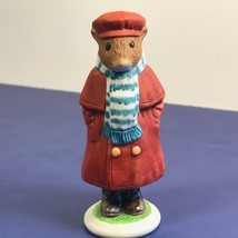Franklin Mint Woodhouse Mouse Figurine Porcelain Mice 1985 George Red Coat Scarf - $19.75