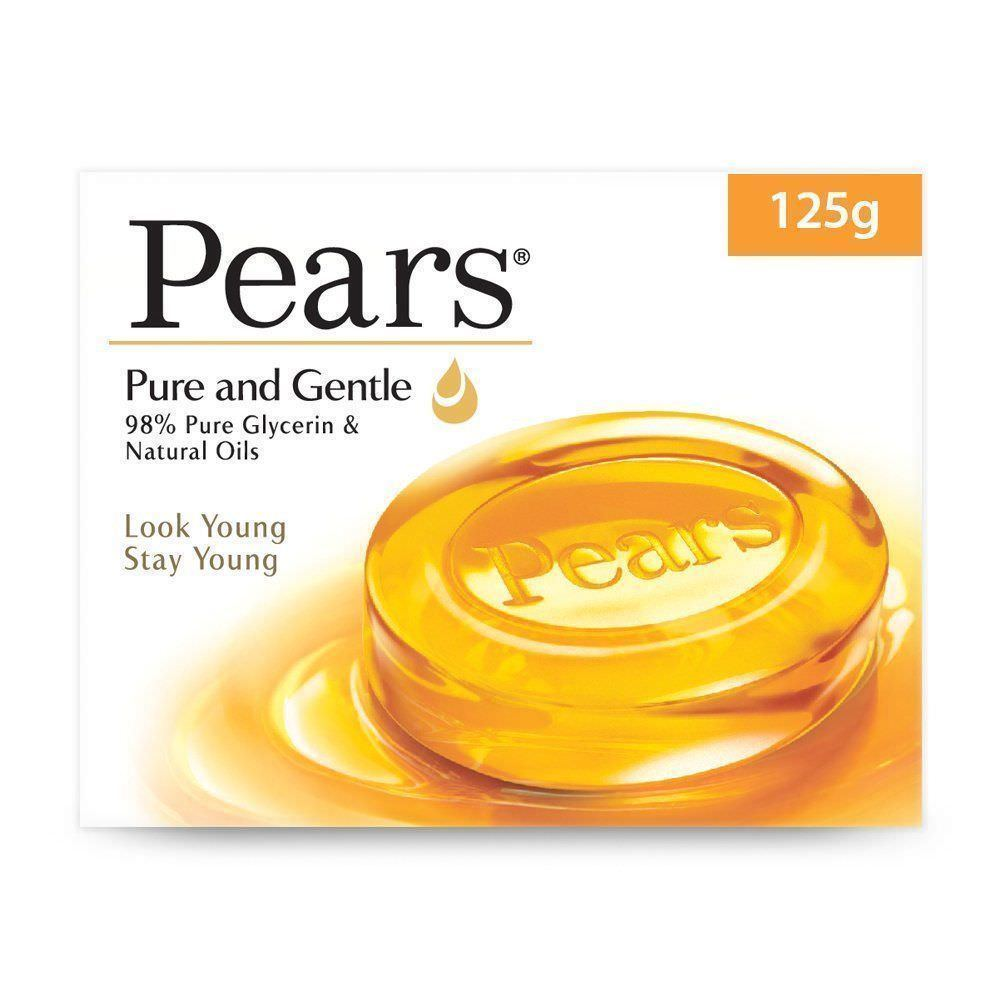 Pears Pure and Gentle Bathing Glycerin Soap 125 gm X 3