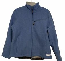 Women's Woolrich 15417 Sapphire Cropped Full Zip Wool Jacket Sz Small Blue - $44.52