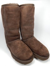 UGG Classic Tall Brown Sheepskin Chestnut Boots Size 5 M (B) EU 36 Model # 5815