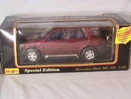 1997 Mercedes-Benz ML 320 1:18 scale diecast Special Edition Maisto - $42.35