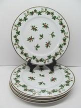 "Waverly Holiday Bouquet 8 1/4"" Salad Plate Set Of 4 Plates EUC - $38.22"
