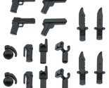 Weapons for lego brickarms minifigs army accessories pistols knives package 2 pack thumb155 crop